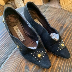 Vintage Versani Suede Leather Pumps